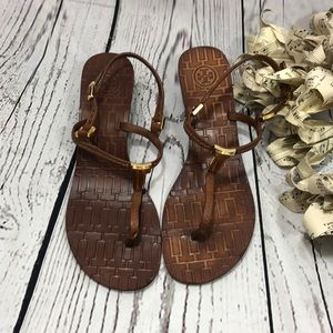 Tory Burch Wedge Sandals Size 7.5